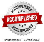 accomplished 3d silver badge... | Shutterstock .eps vector #329558069