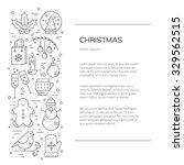 christmas flyer made in line... | Shutterstock .eps vector #329562515