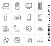simplus series icon set.... | Shutterstock .eps vector #329569445