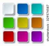 vector modern colorful web... | Shutterstock .eps vector #329574587