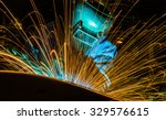 welder industrial automotive... | Shutterstock . vector #329576615