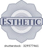 esthetic money style rosette | Shutterstock .eps vector #329577461