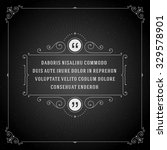 vintage ornament quote marks... | Shutterstock .eps vector #329578901