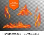 vector realistic fire...