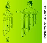 wind chimes. design element | Shutterstock .eps vector #329585987