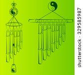 wind chimes. design element   Shutterstock .eps vector #329585987