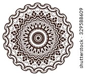 mandala. hand drawn highly... | Shutterstock .eps vector #329588609