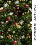 Close Up Of Christmas Tree Wit...
