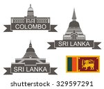 sri lanka logo. isolated sri... | Shutterstock .eps vector #329597291