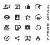 social media icons  mono series | Shutterstock .eps vector #329600189
