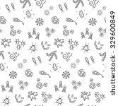 seamless bacterium pattern.... | Shutterstock .eps vector #329600849
