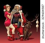 alternative christmas  drunk... | Shutterstock .eps vector #329604587