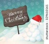 vector hand drawn winter... | Shutterstock .eps vector #329610161