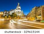gran via  main shopping street... | Shutterstock . vector #329615144