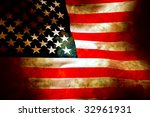 aged and water damaged old... | Shutterstock . vector #32961931