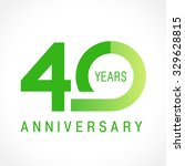 40 years old celebrating... | Shutterstock .eps vector #329628815