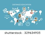 education and online courses ... | Shutterstock .eps vector #329634935
