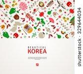 asian background. korea travel... | Shutterstock .eps vector #329644034