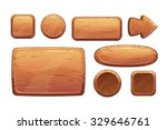 cartoon wooden game assets the... | Shutterstock .eps vector #329646761