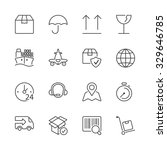 set of icons isolated for... | Shutterstock .eps vector #329646785