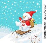 vector christmas illustration.... | Shutterstock .eps vector #329647967