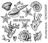 hand drawn collection and set... | Shutterstock .eps vector #329653409