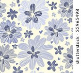 stylish floral seamless pattern   Shutterstock .eps vector #32965498