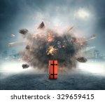 dangerous dynamite exploding in ...   Shutterstock . vector #329659415