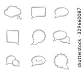 set of icons on a theme speech... | Shutterstock .eps vector #329660087