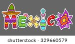 mexico doodle icons set ... | Shutterstock .eps vector #329660579