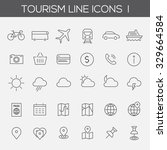 thin line tourism icons  set 1 | Shutterstock .eps vector #329664584
