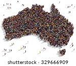 large and diverse group of... | Shutterstock . vector #329666909