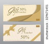 gift voucher certificate coupon ... | Shutterstock .eps vector #329671451