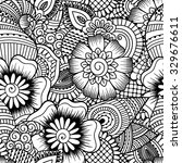 seamless black and white... | Shutterstock .eps vector #329676611