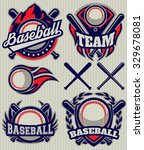 set of sports template with... | Shutterstock .eps vector #329678081