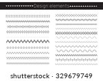 vector line border set and... | Shutterstock .eps vector #329679749