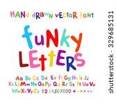 abc alphabet funky letters... | Shutterstock .eps vector #329685131
