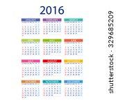 2016 calendar simple design art ... | Shutterstock .eps vector #329685209