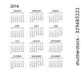 calendar for 2016 on white...   Shutterstock .eps vector #329685221