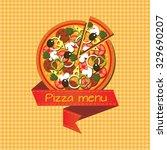 pizza menu logo | Shutterstock .eps vector #329690207