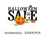 halloween sale offer design ... | Shutterstock . vector #329692919