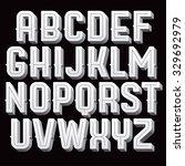 vintage vector font. retro type ... | Shutterstock .eps vector #329692979