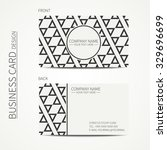 geometric monochrome business... | Shutterstock .eps vector #329696699