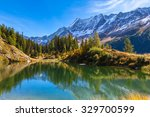 stunning view of the alps with... | Shutterstock . vector #329700599