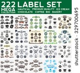 mega collection label set ... | Shutterstock .eps vector #329700695