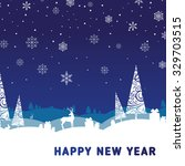 new year card | Shutterstock .eps vector #329703515
