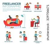 freelancer infographic elements   Shutterstock .eps vector #329706671