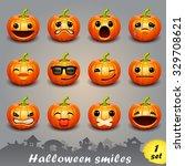 halloween smiles set 1 | Shutterstock .eps vector #329708621