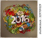 2016 new year hand lettering... | Shutterstock .eps vector #329709329