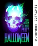halloween party design with... | Shutterstock . vector #329713451
